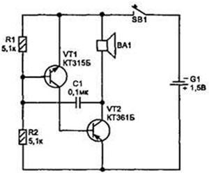 Генератор звуковой частоты своими руками схема